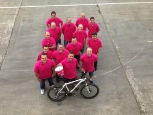 Team Wilsonart Line Up for Charity Cycle Challenge. June 2014