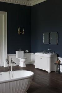 Arcade_ Bathrooms set featuring Sand vanity unit