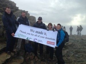 Team Franke Water Systems scale Snowden for Charity. November 2014