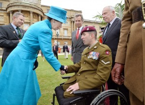 BEN Parkinson MBE, with The Princess Royal and The Pilgrim Bandits
