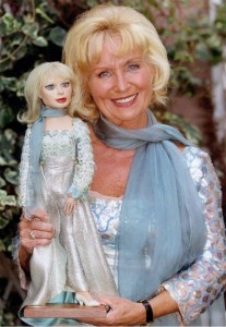 Sylvia Anderson creator of Thunderbirds with Lady Penelope