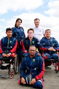 Injured Servicemen Skydiving at APA Netheravon with Duncan Bannatyne and Nifora Whitehorn and Pilgrim Bandits Charity – Sat July 11th 2015