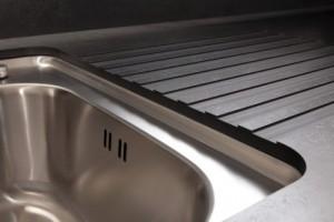 Drainer Grooves in Zenith solid thin worktops from Wilsonart