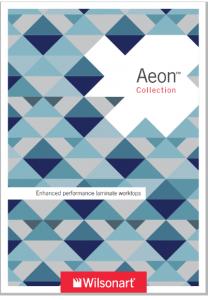 Front Cover of Aeon Brochure from Wilsonart UK