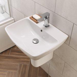 My Home basin semi ped serene mini RT
