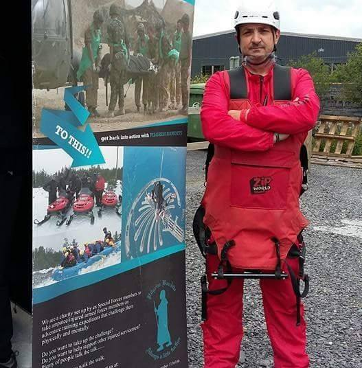 CHARITY RAISES OVER £5K AND AIMS FOR WORLD ZIP WIRE RECORD