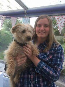 Brooke Edwards and her Dog Zeke