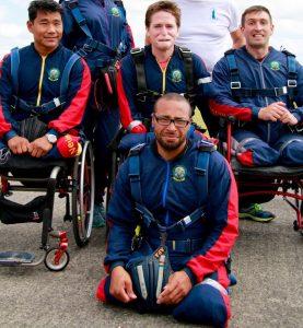 Injured jumping for Pilgrim Bandits' tandem skydive in 2015