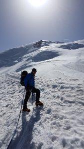Adam climbs Mont Blanc