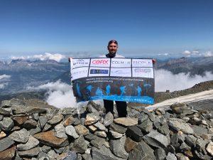 Adam summits Mont Blanc