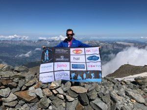 Eddie on summit of Mont Blanc