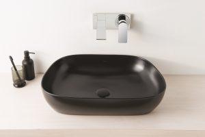 Outline TV basin in matt black from VitrA.0016