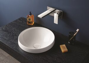 VitrA6179s round Frame basin in matt white
