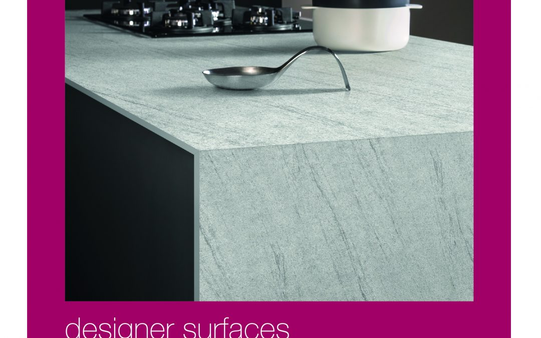 Designer Surfaces – Bushboard's new brochure for solid-coloured-core worktops