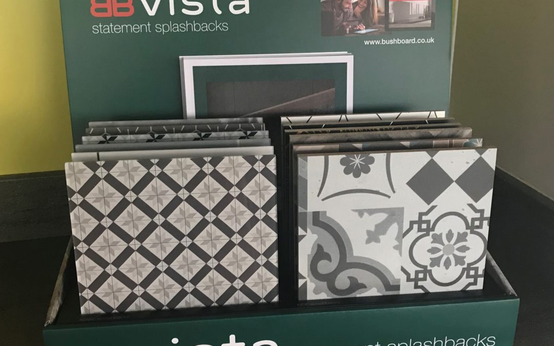 Vista Statement Splashbacks Get new P.O.S from Bushboard