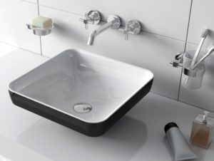 Water Jewels 40cm pearl white and black basin from www.VitrA.co.uk